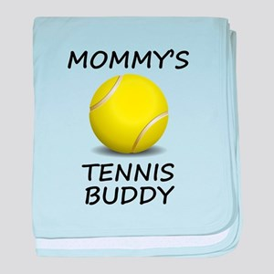 Mommys Tennis Buddy baby blanket